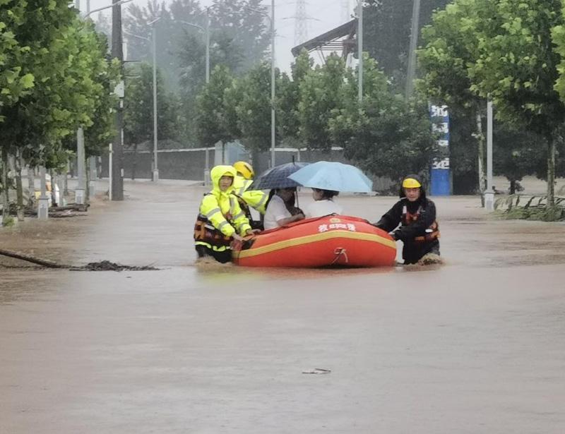 郑州抗洪加油